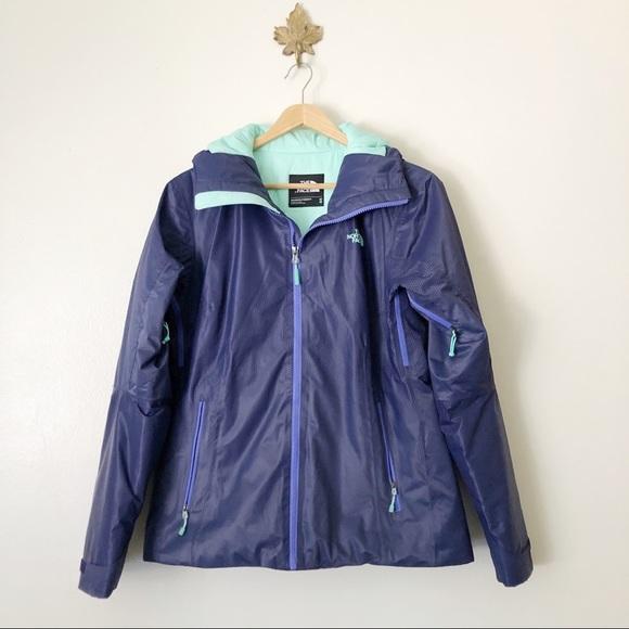 The North face Purple Full Zip hood Hyvent jacket